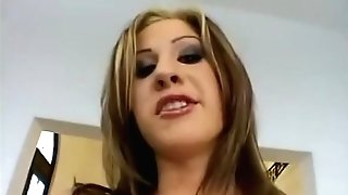 Lisa Marie - Blonde Honey Fucked On Her Bum And Gulp