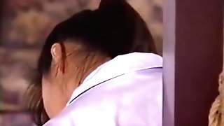 Mako Higashio Asian Teenage In School Uniform Licks Bum