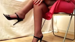 Black Stilettos And Rht Stockings