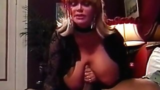 Blonde breezy tit fucks lucky penis