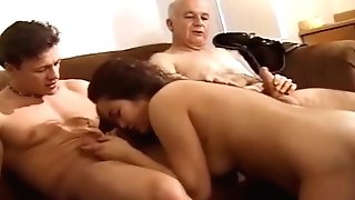 Three Man To A Greedy Vag